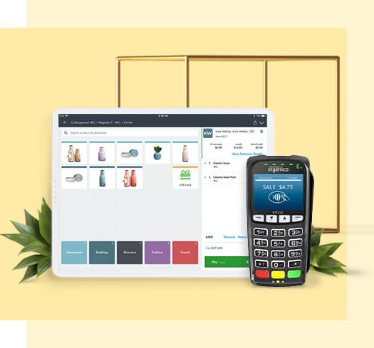 Vend POS with ingenico terminal