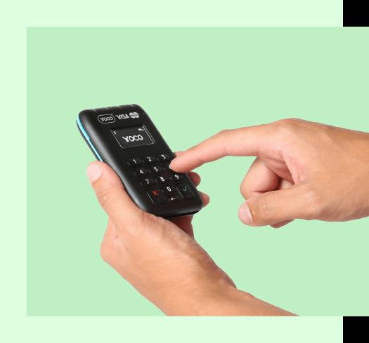 Yoco terminal finger
