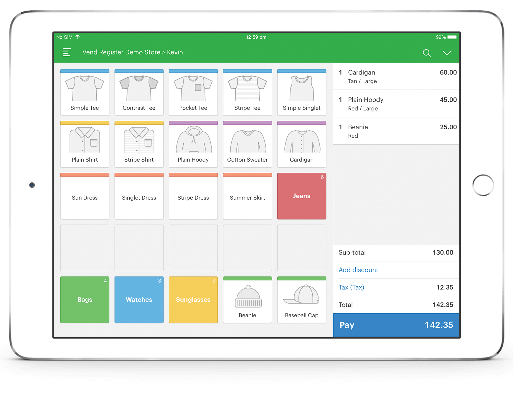 Vend mobile POS works with a wide range of hardware