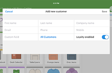 Add customers to Vend's customer management software system for retailers.
