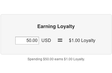 Earning loyalty in Vend's customer loyalty reward program.